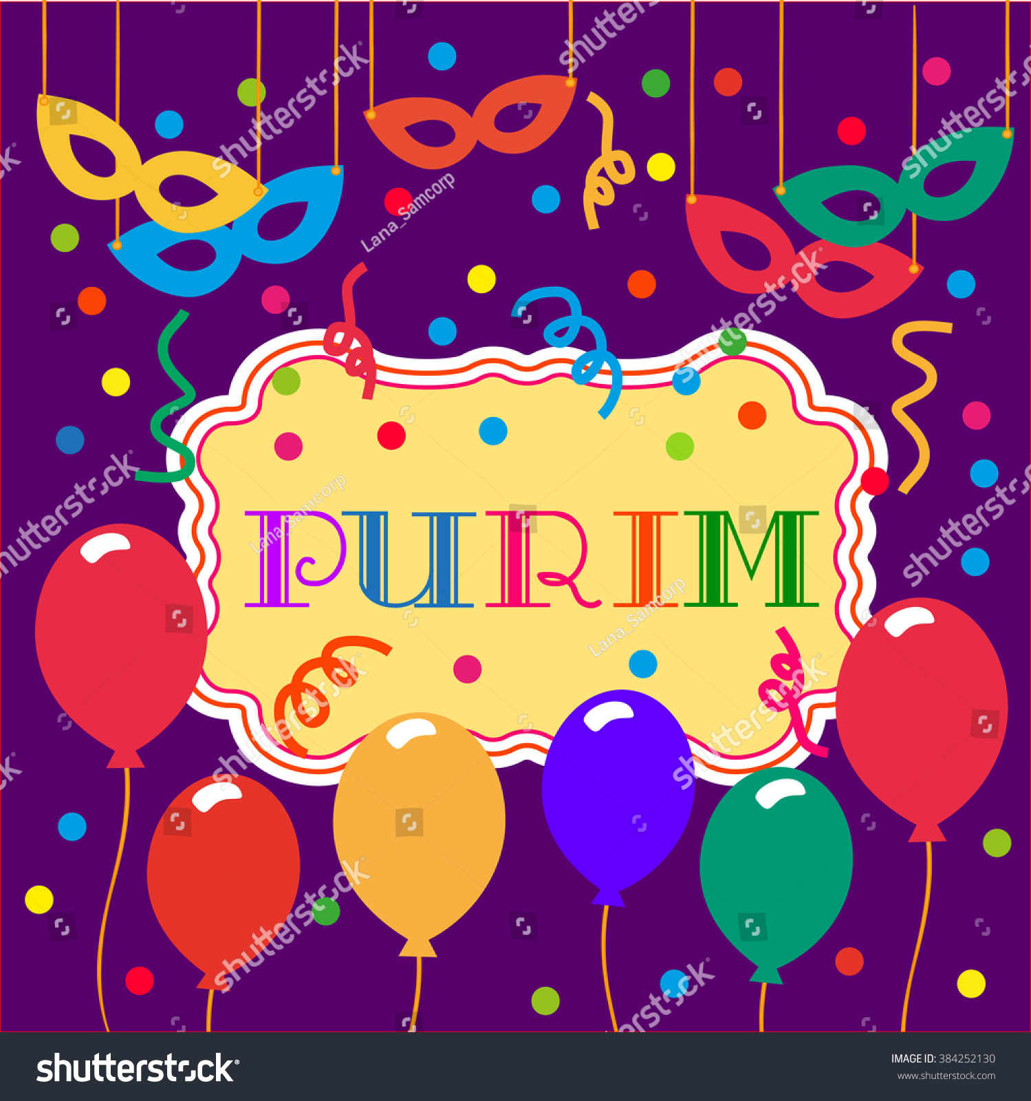concept kids masquerade happy purim holiday stock vector  concept of kids masquerade happy purim holiday carnival poster template background purim festival