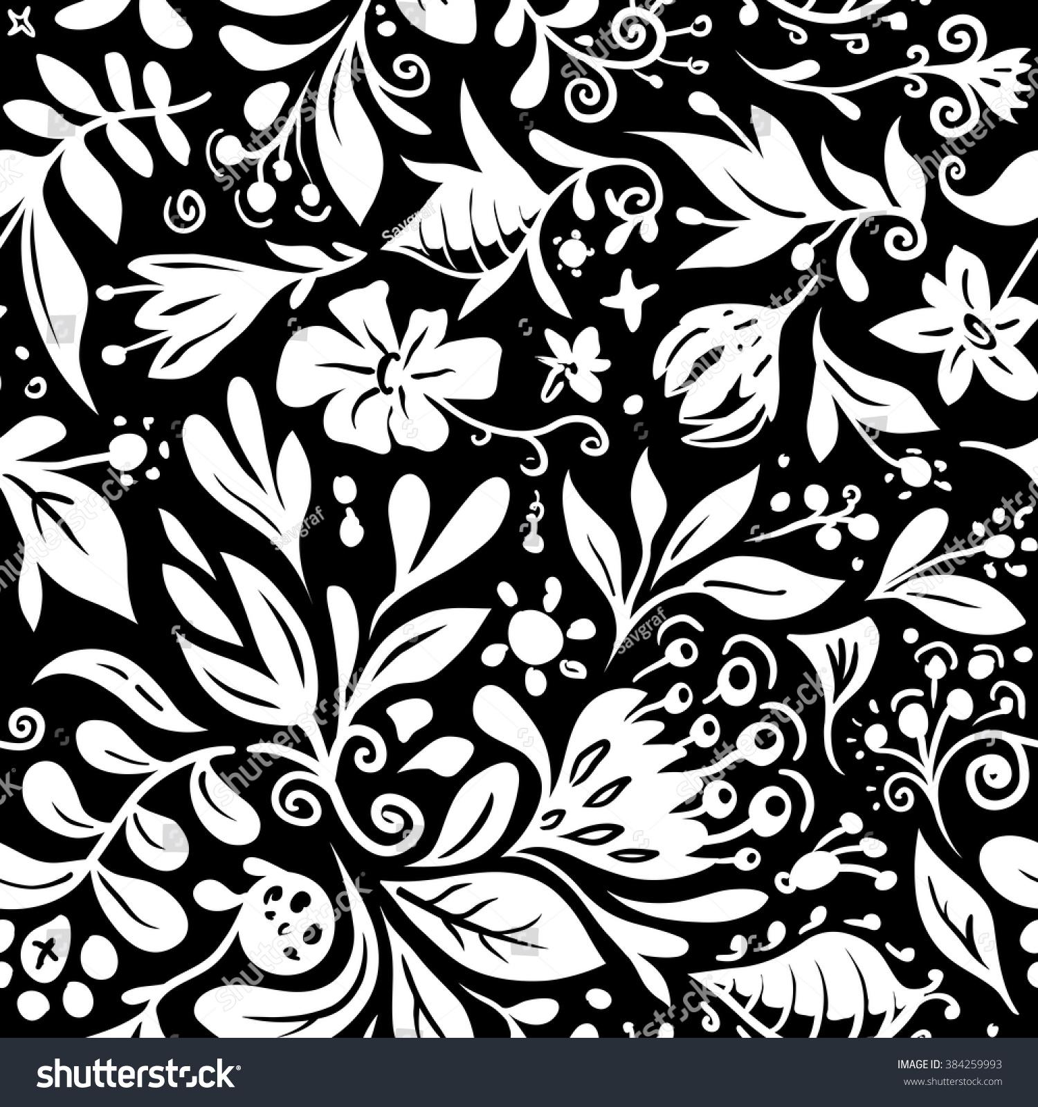 seamless vector floral pattern textile design stock vector