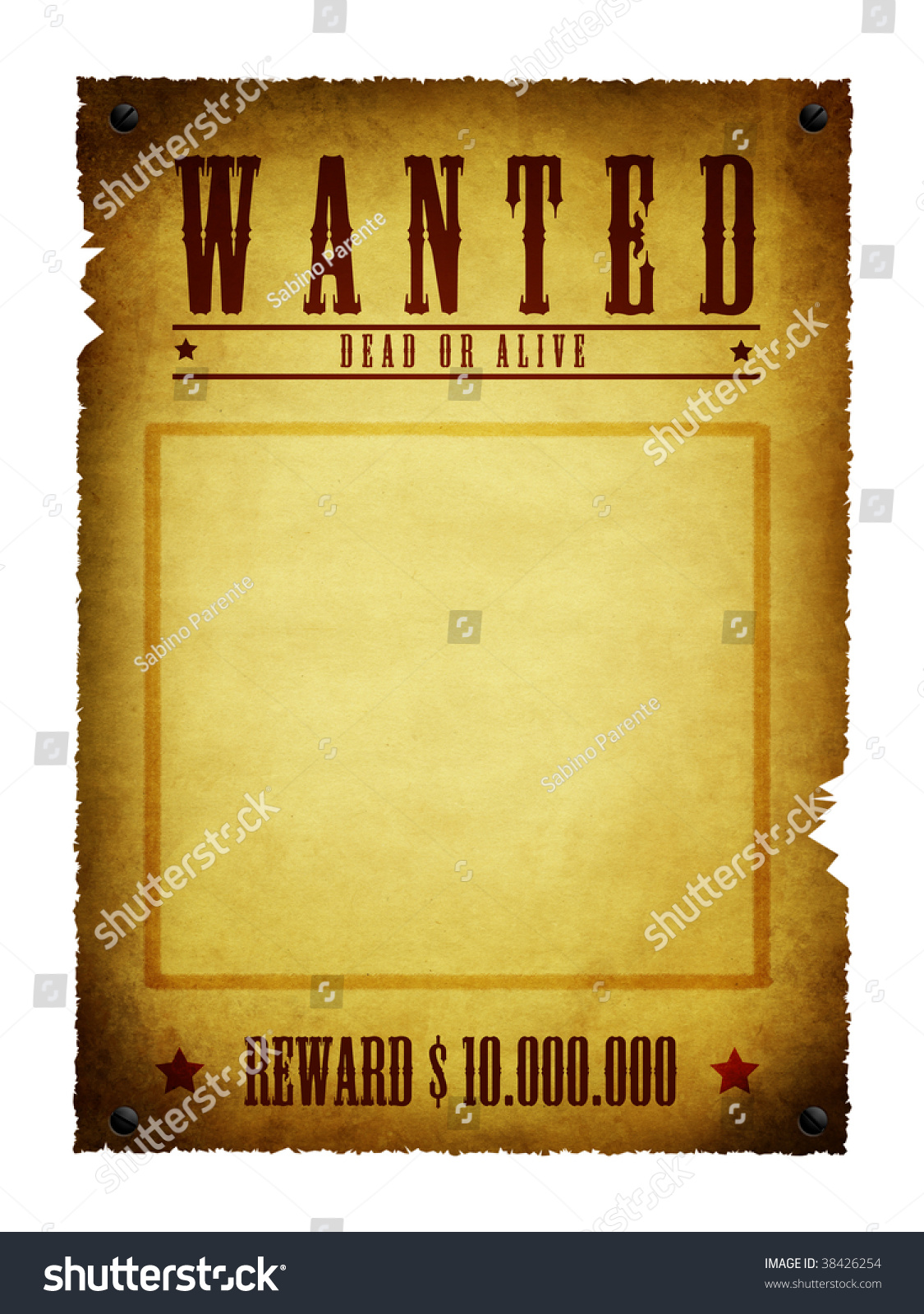 Royalty-free An illustration of a wanted retro poster #38426254 Stock Photo Avopix.com