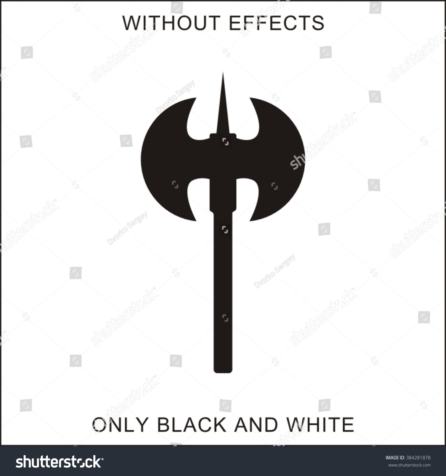 Double Axe Silhouette On White Stock Vector Royalty Free 384281878