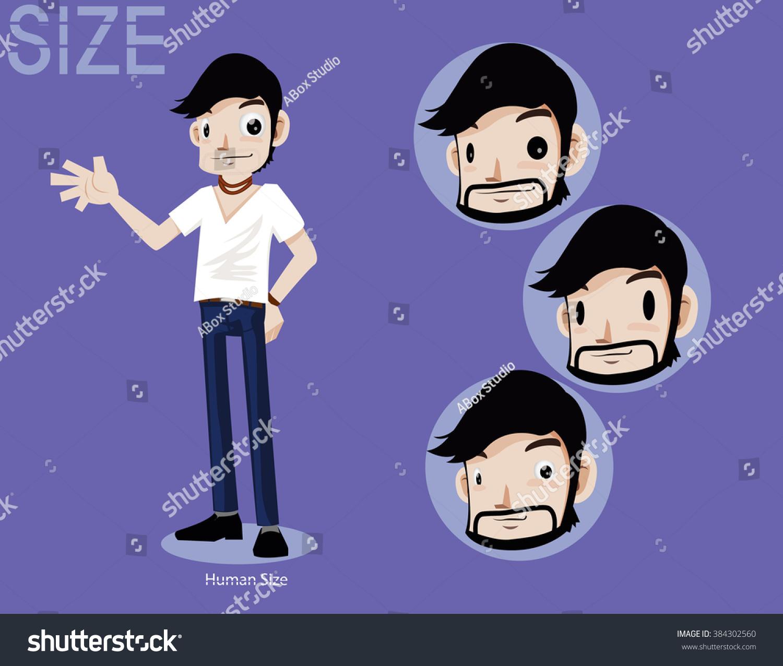 Character Design Set : Character design set tshirt man a stock vector