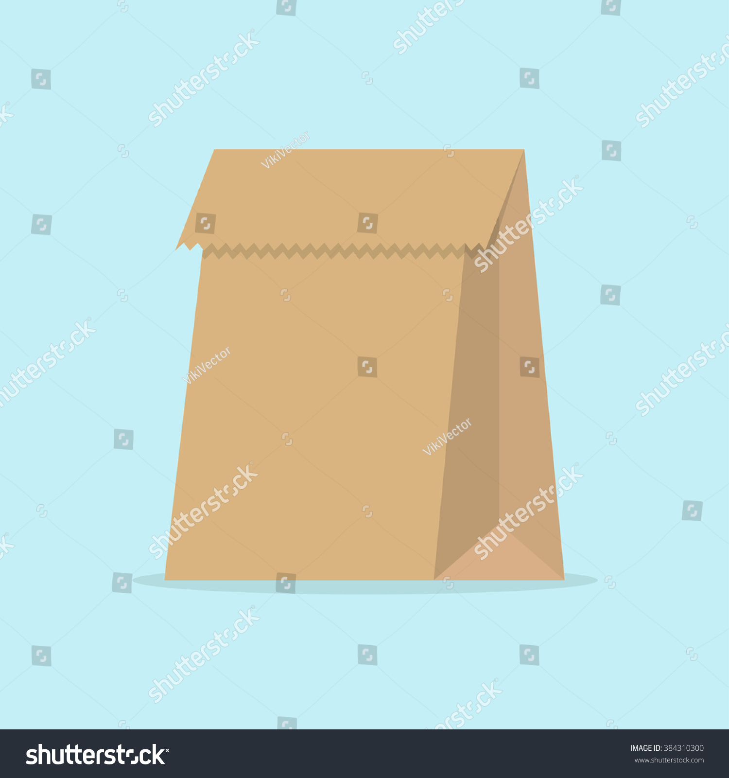 Paper bag vector - Grocery Paper Bag Vector Illustration Isolated On Background Brown Paper Bag For Products Or Food