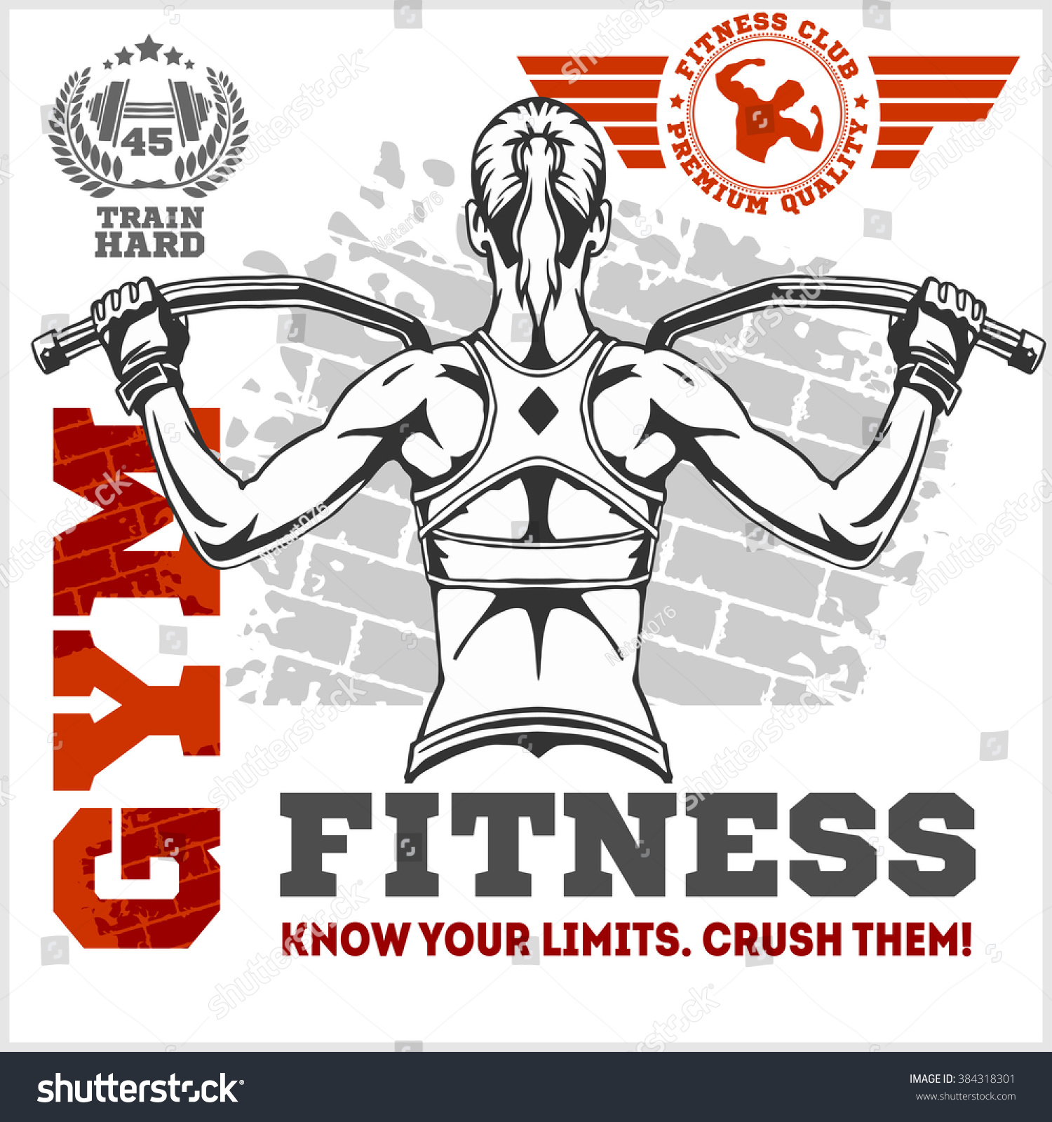 Fitness Club Gym Banner Poster Design Stock Vector (2018) 384318301 ... for Bodybuilding Poster Design  585hul