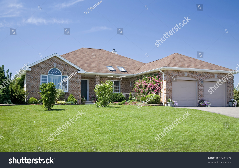 New Brick Home Subdivision Stock Photo 38433589 Shutterstock