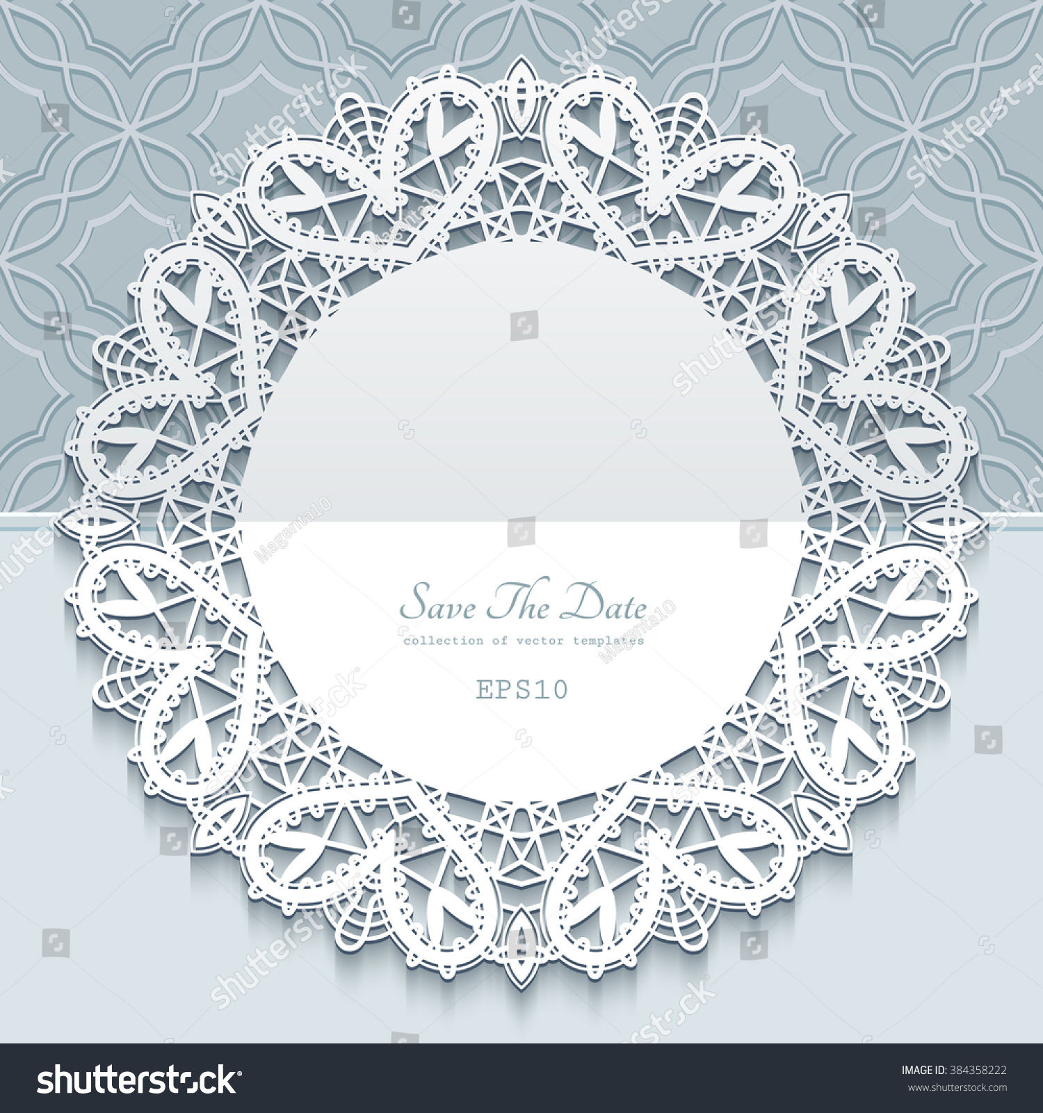 Vector Greeting Save Date Card Wedding Stock Vector 384358222 ...