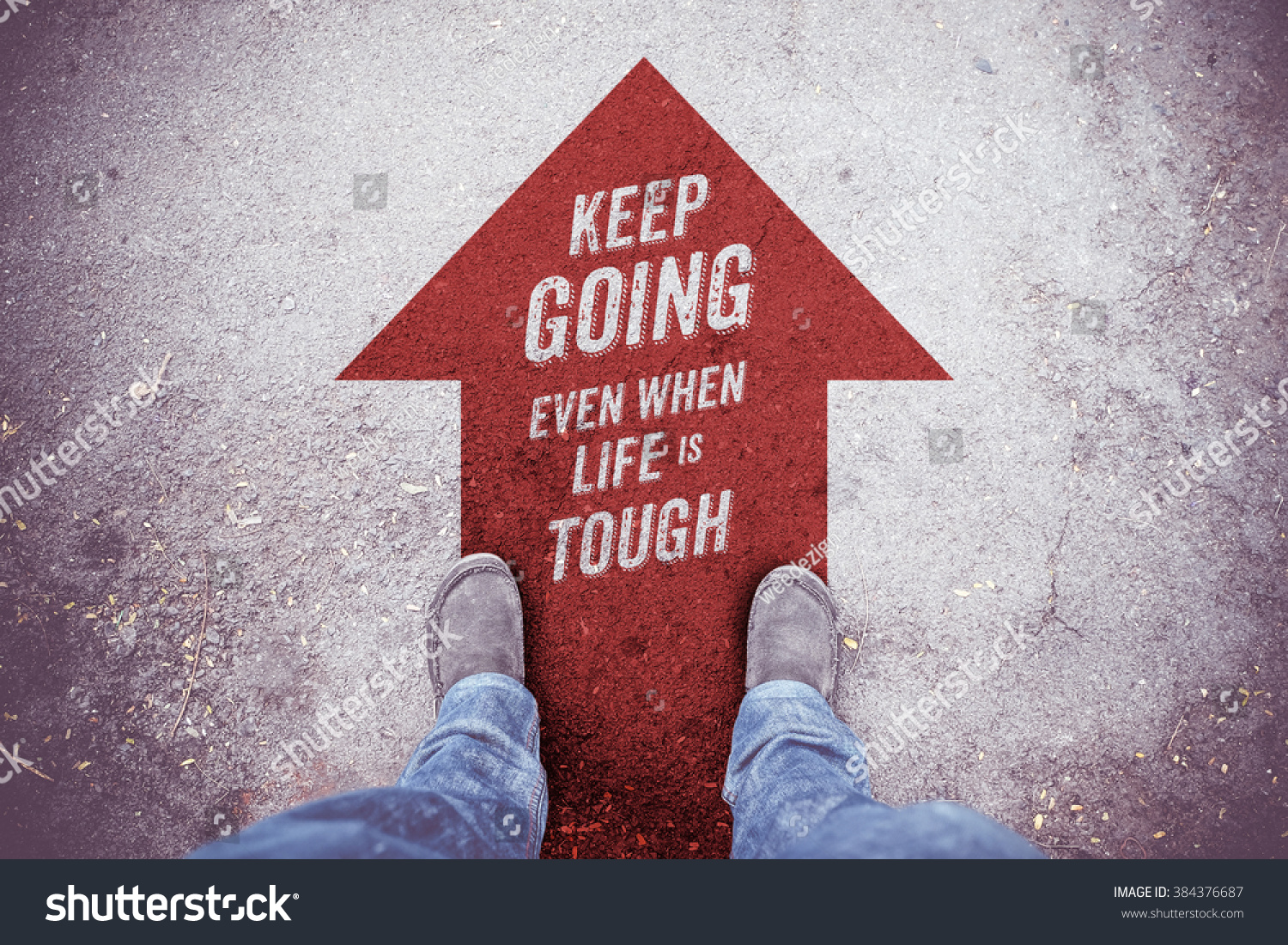 Arrow Quotes Life Inspiration Quote Keep Going Even When Stock Photo 384376687