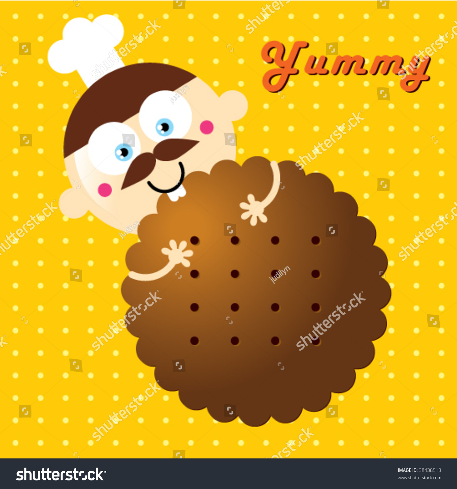 Dad Loves Biscuit Stock Vector Illustration 38438518 ...