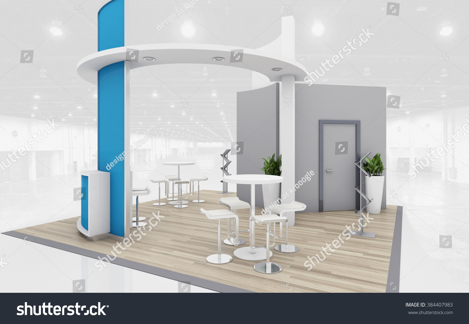 D Rendering Exhibition : Blue grey exhibition stand d rendering stock illustration