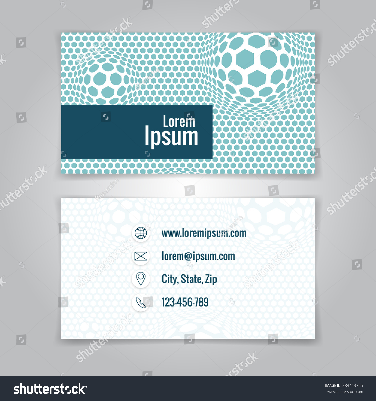Modern Simple Business Card Template Card Stock Illustration ...