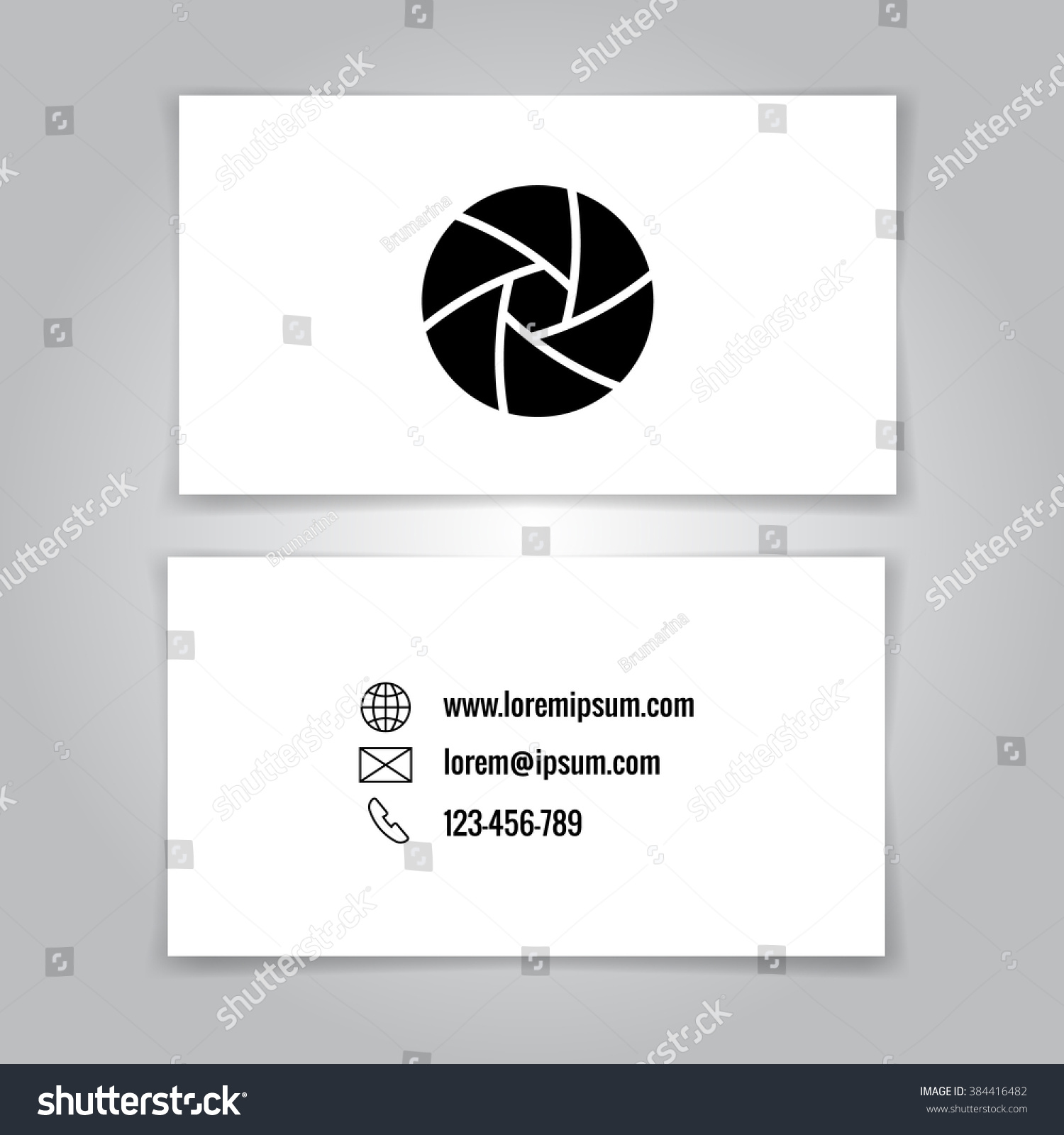 Modern Simple Business Card Template Logo Stock Illustration ...