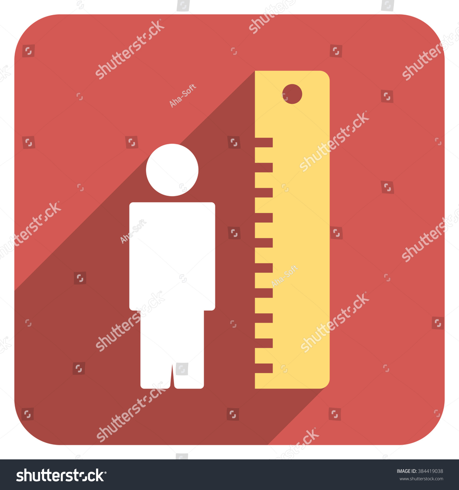 Man height meter long shadow glyph stock illustration 384419038 man height meter long shadow glyph icon style is a flat symbol on a red biocorpaavc