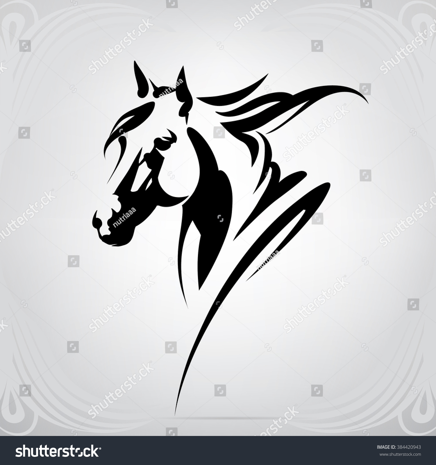 paint horse head silhouette running horse clipart black and white running horses clip art pictures