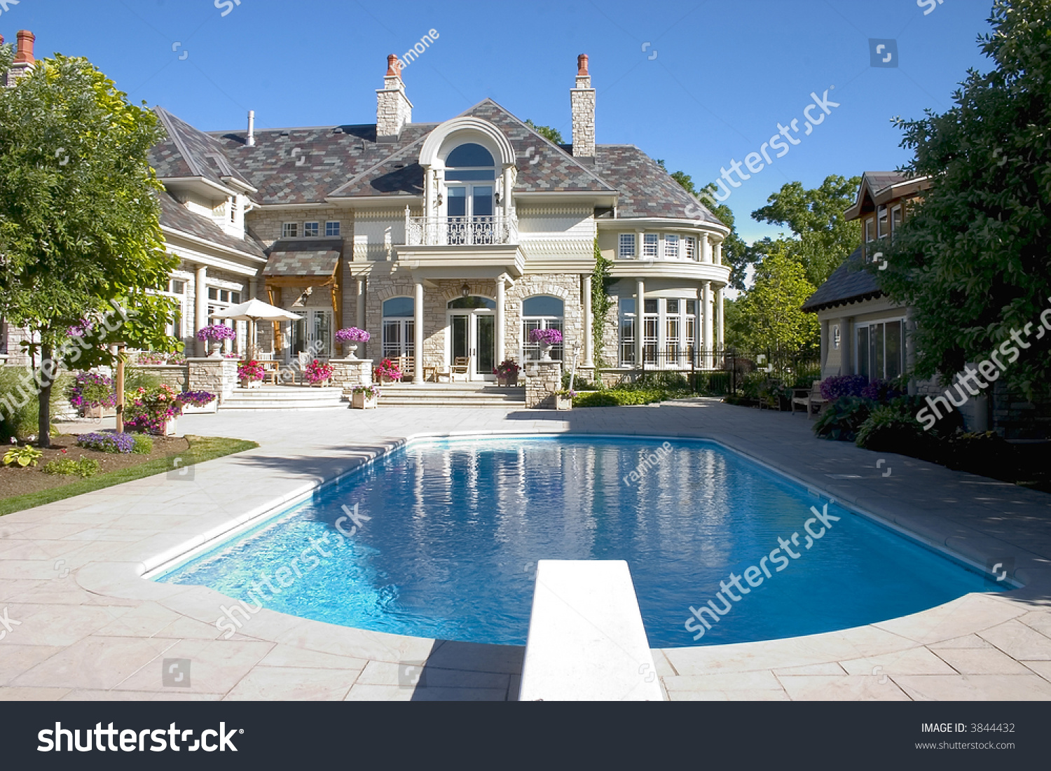 Luxury Home Swimming Pools picture luxury home swimming pool back stock photo 3844432