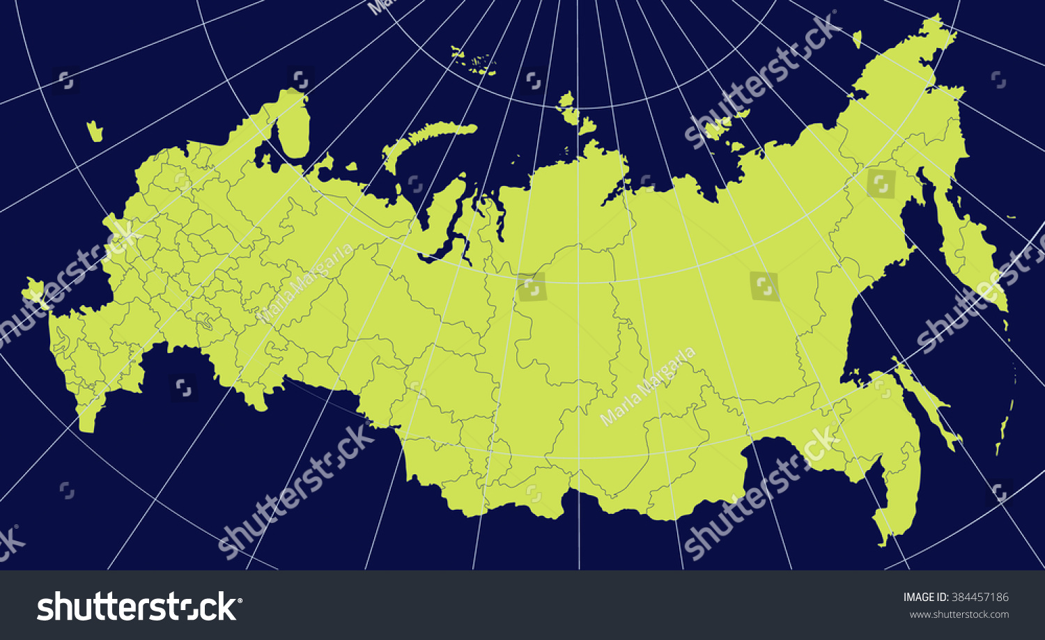 Detailed Map Russia Regions Stock Vector Shutterstock - Detailed map of russia