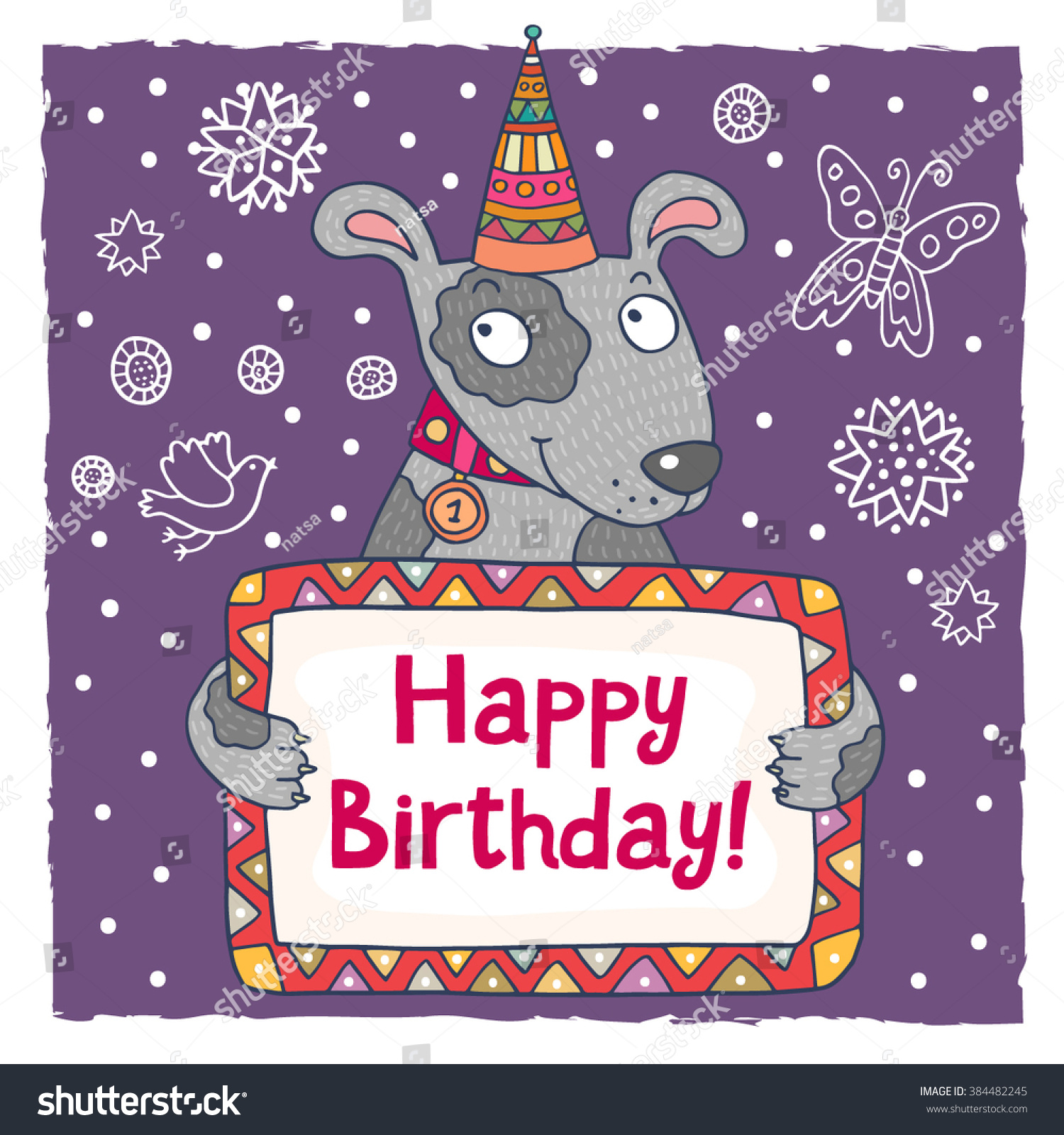 happy birthday word template paralegal resume objective examples cute happy birthday greeting card template stock vector 384482245 stock vector cute happy birthday greeting card