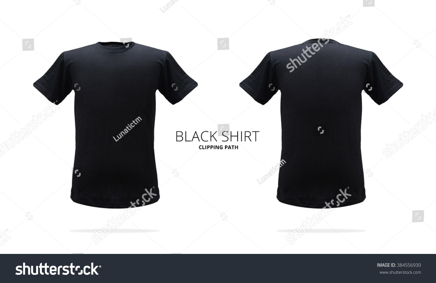 Black Tshirt Template On White Background Stock Photo Edit Now