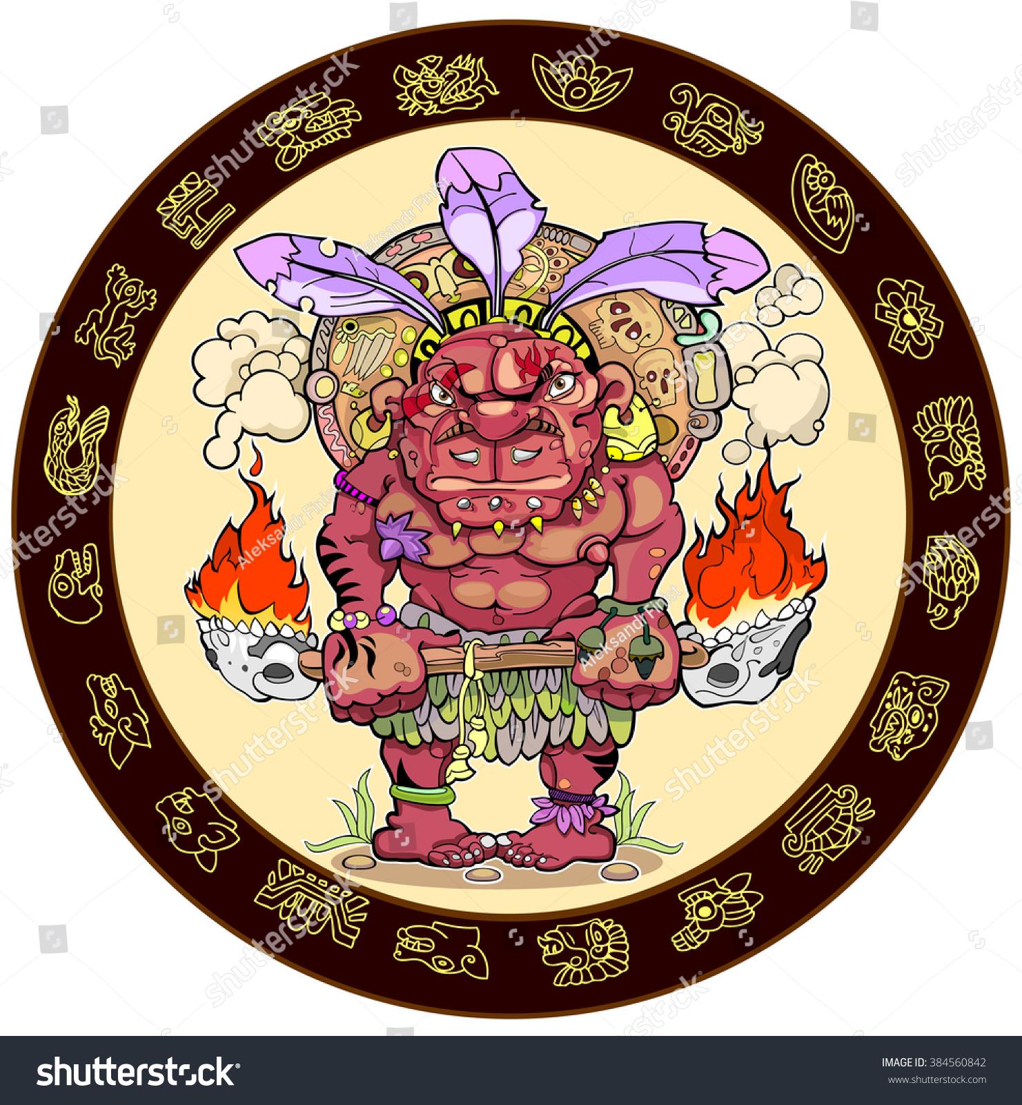 Maya Re Maya Re Bengali Song Download: Mayan Calendar Maya Zodiac Stock Vector 384560842