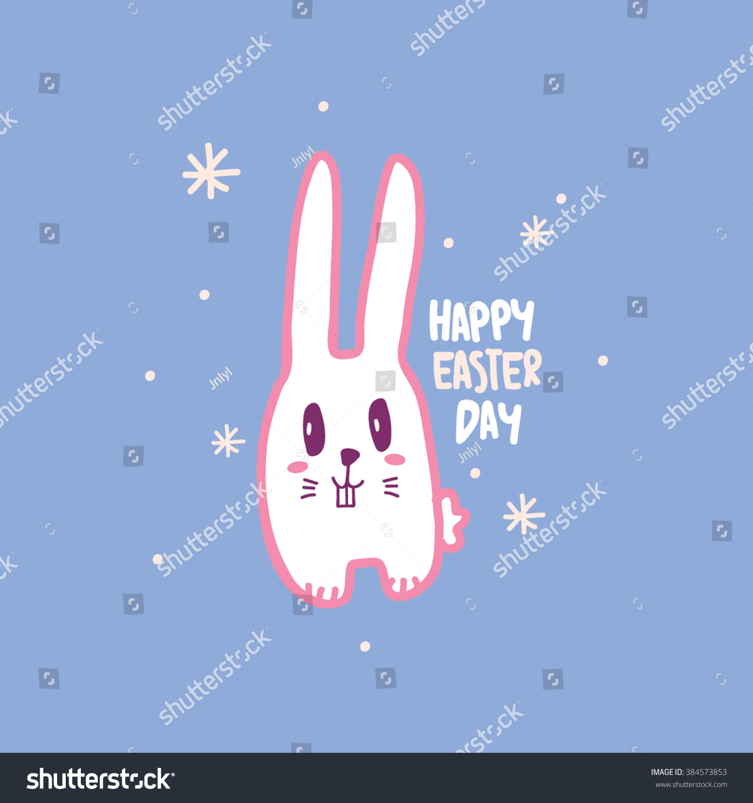 Easter Day Bunny Illustration Typography Design Stock Vector Hd