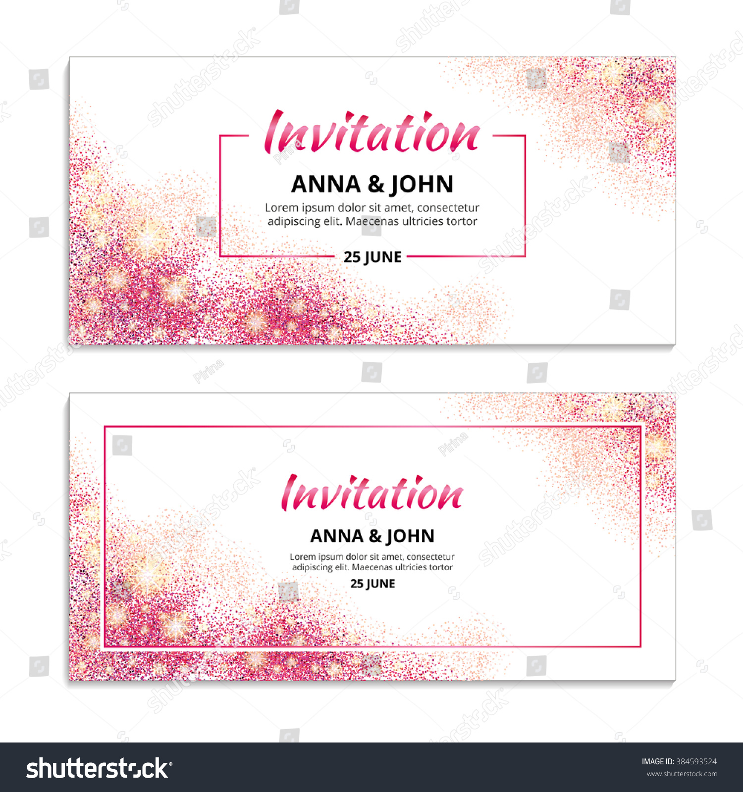 Pink wedding glitter invitation weddings background stock vector pink wedding glitter invitation weddings background stock vector 384593524 shutterstock stopboris Images