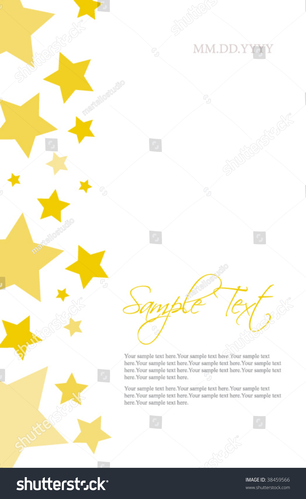 stars invitation template stock vector royalty free 38459566