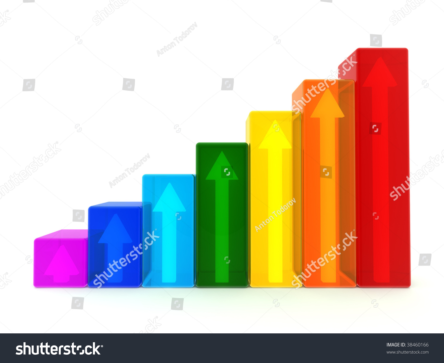 stock photo translucent d graph with arrows inside on white background 38460166 translucent 3 d graph arrows inside on stock illustration 38460166