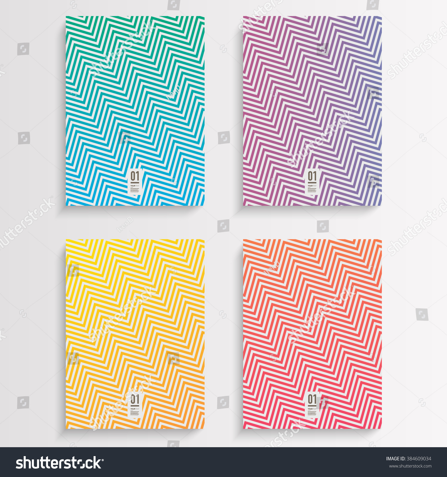 Book Cover Design Pattern ~ Abstract flyer book cover design set stock vector