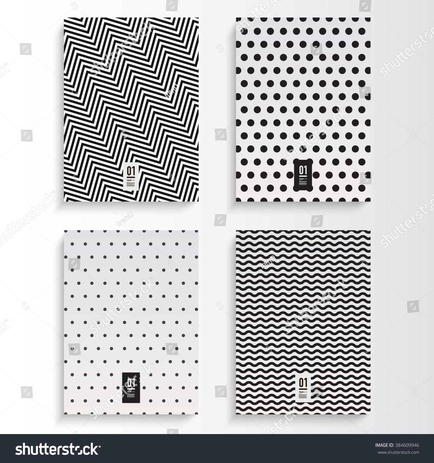 Book Cover Design Black And White : Abstract minimal black and white flyer or book cover