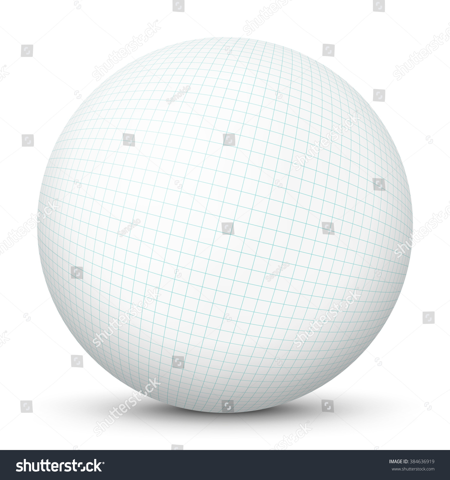 White Blank 3 D Vector Sphere Mapped Stock Vector 384636919 ...