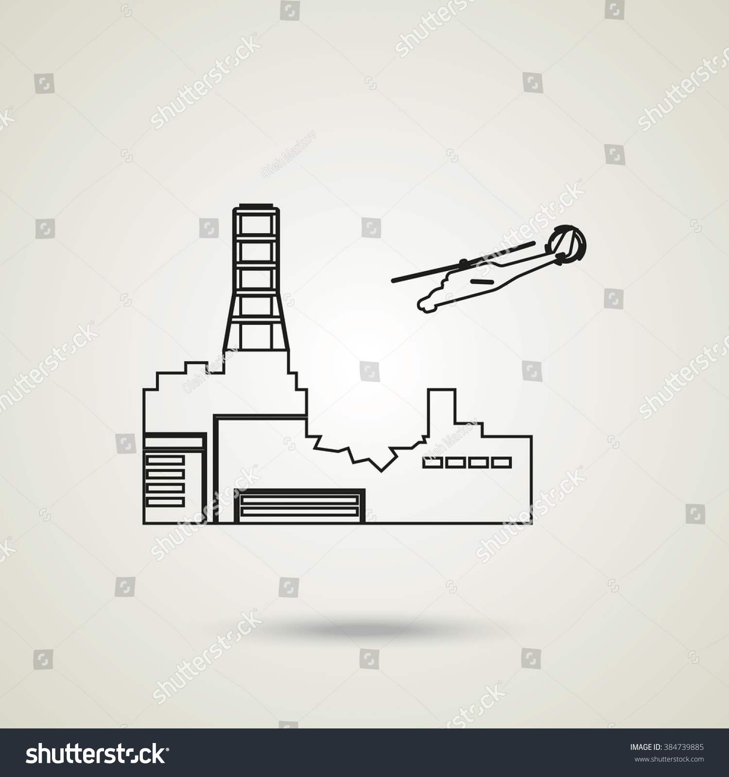 Chernobyl nuclear power station stock illustration 384739885 chernobyl nuclear power station ccuart Images