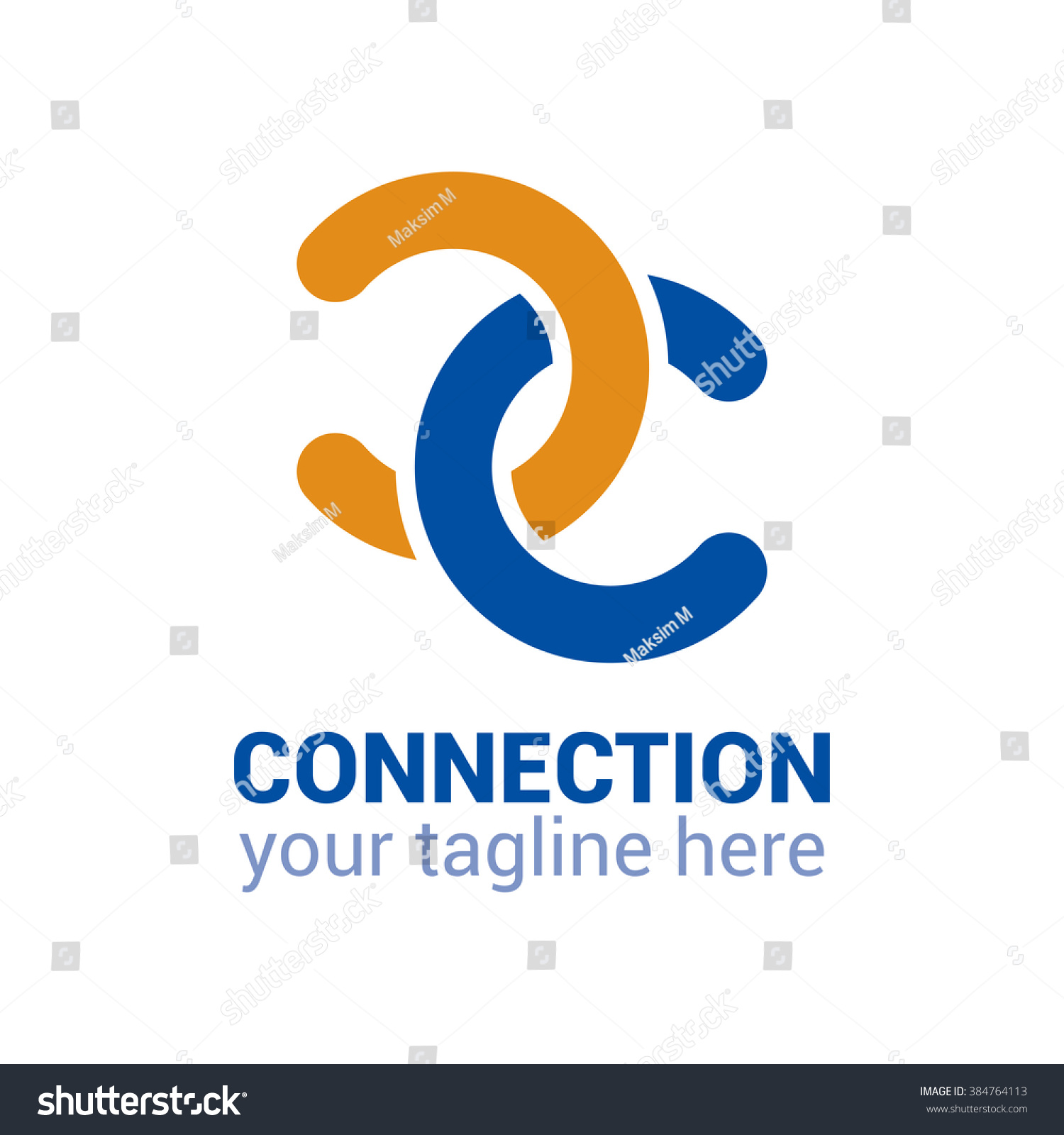 Connection logo template connection icon abstract stock vector connection logo template connection icon abstract double c logo double c icon biocorpaavc