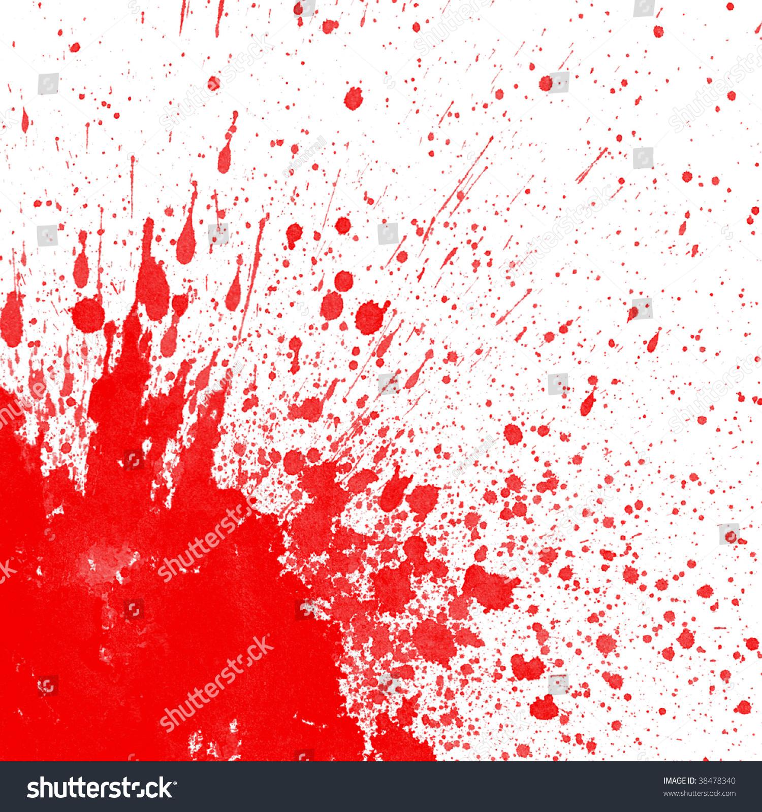 Grunge Stain Collection: Blood Splatter Corner Image Stock Illustration 38478340