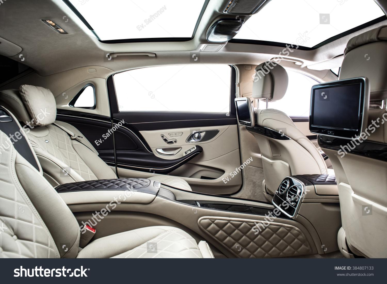 Car interior luxury rear seat wealth
