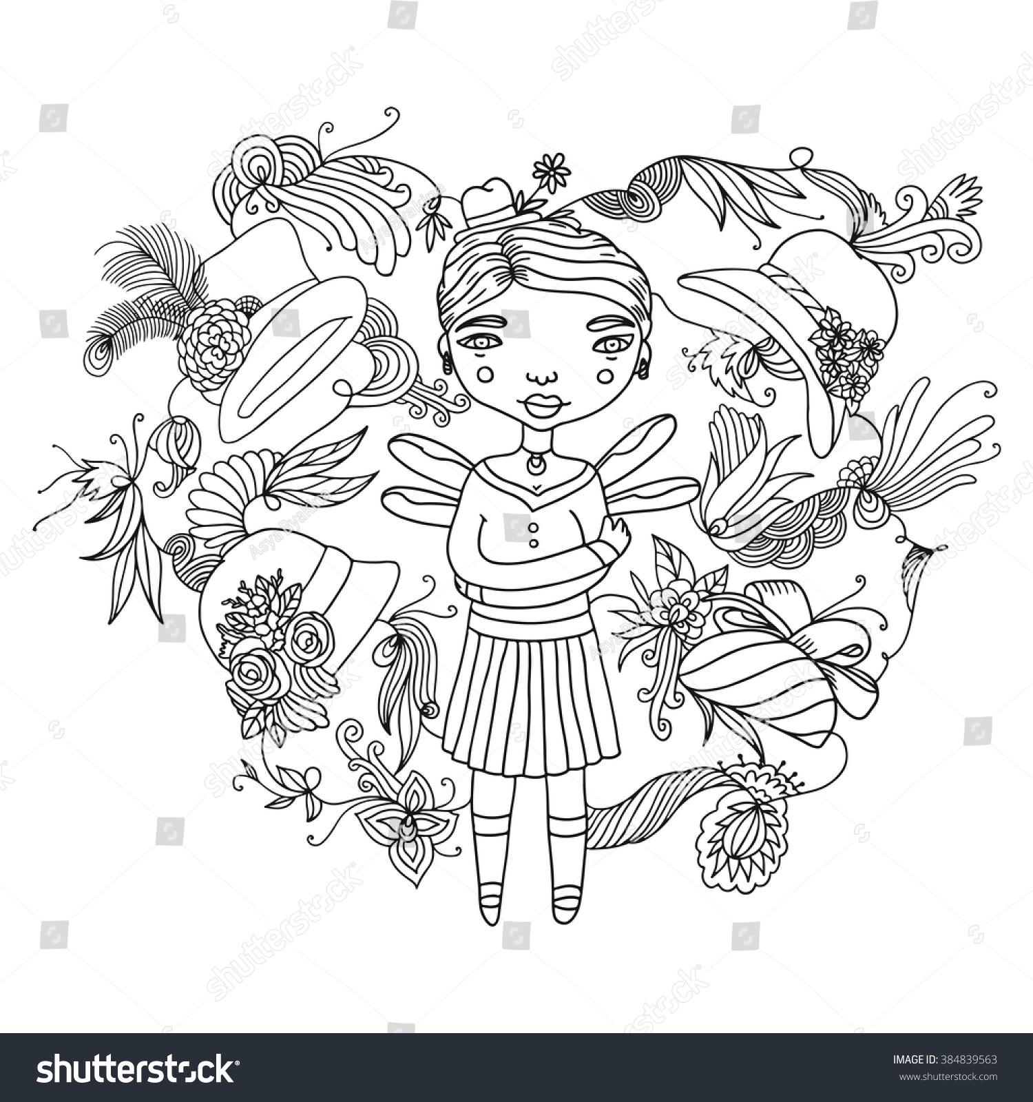 Doodles Womenelf Hats Stock Photo (Photo, Vector, Illustration ...