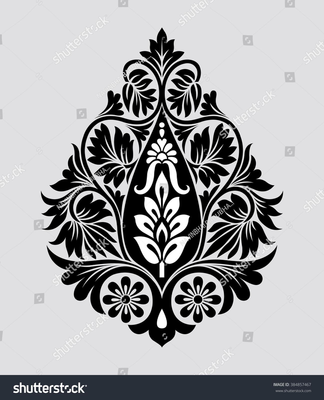 traditional indian motif stock vector 384857467   shutterstock