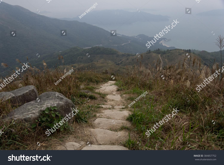 Beautiful Landscape On Way Lantau Peak Stock Photo (Edit Now