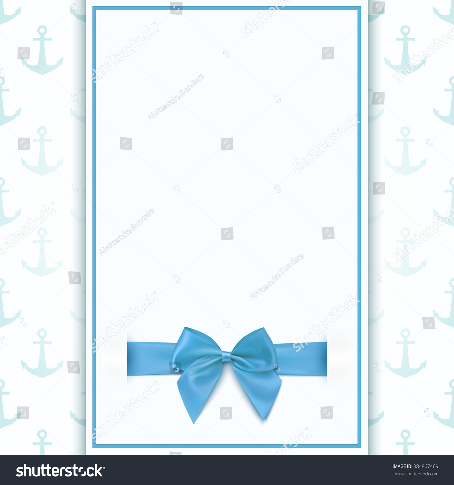 Blank Greeting Card Template Baby Boy Stock Vector Royalty Free