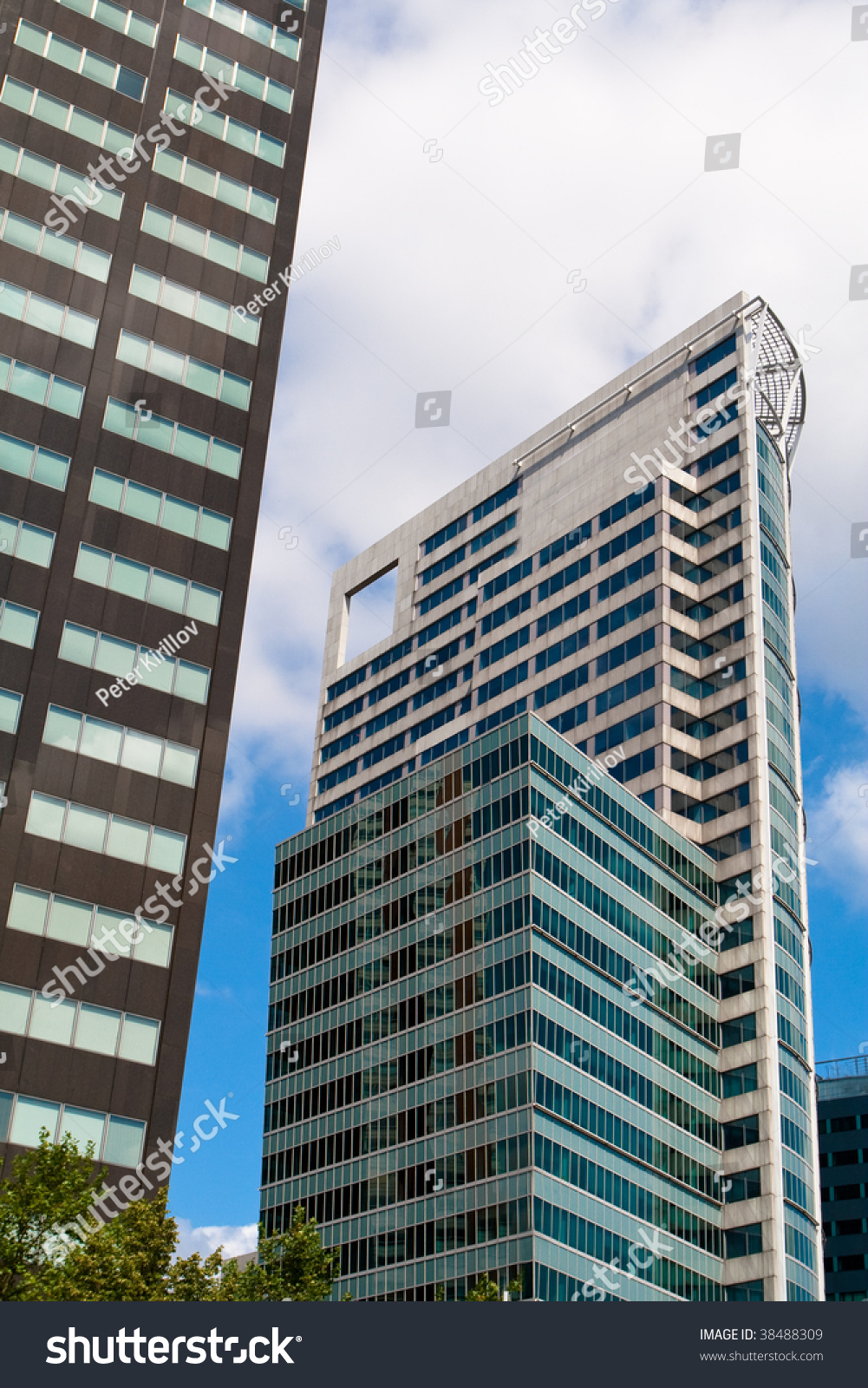 Modern Office Buildings Made With Steel Glass And Mirror Ez Canvas
