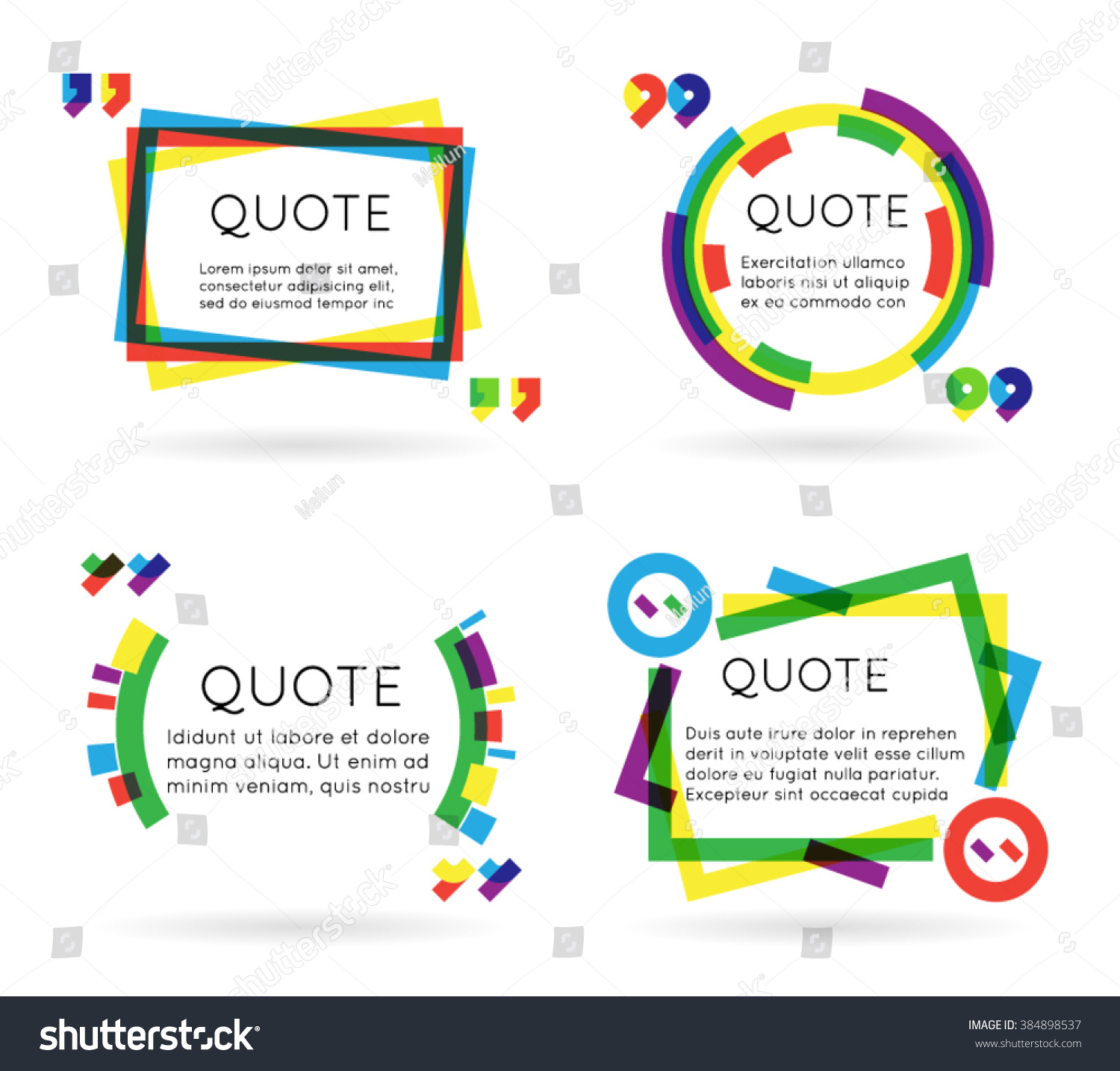 colorful quote template information text blog stock vector colorful quote template information text blog business mobile isolated white background vector illustration