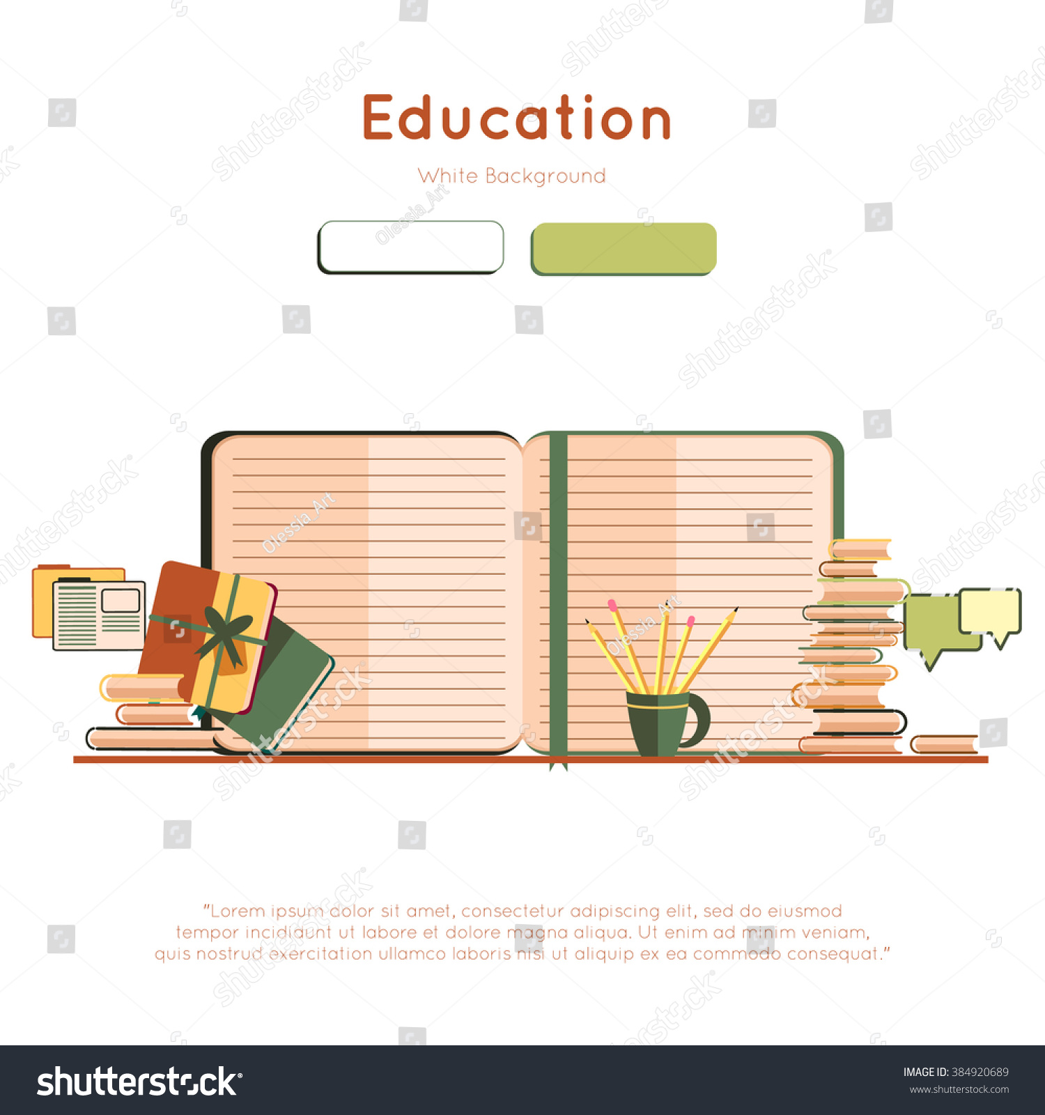 Web Page Design Template With Books Education Graduation – Training Material Template