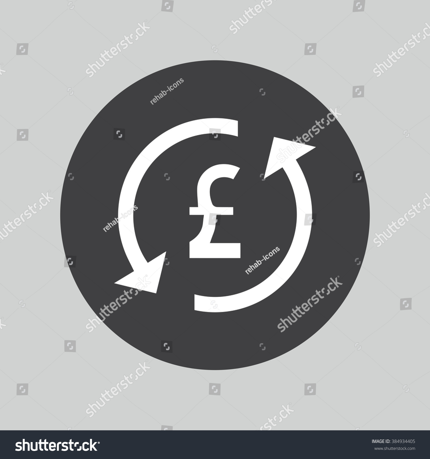 Pound Sign Icon Currency Symbol Money Stock Vector Royalty Free