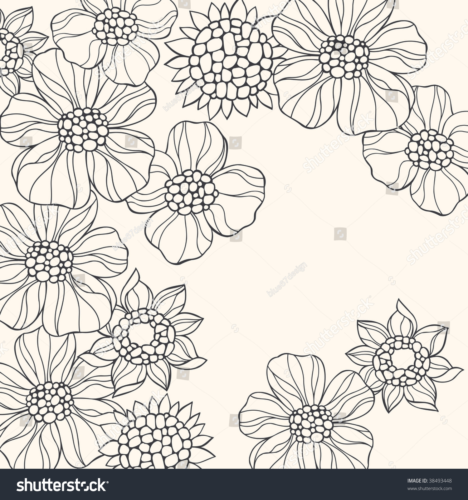 Groovy Flowers Coloring Pages