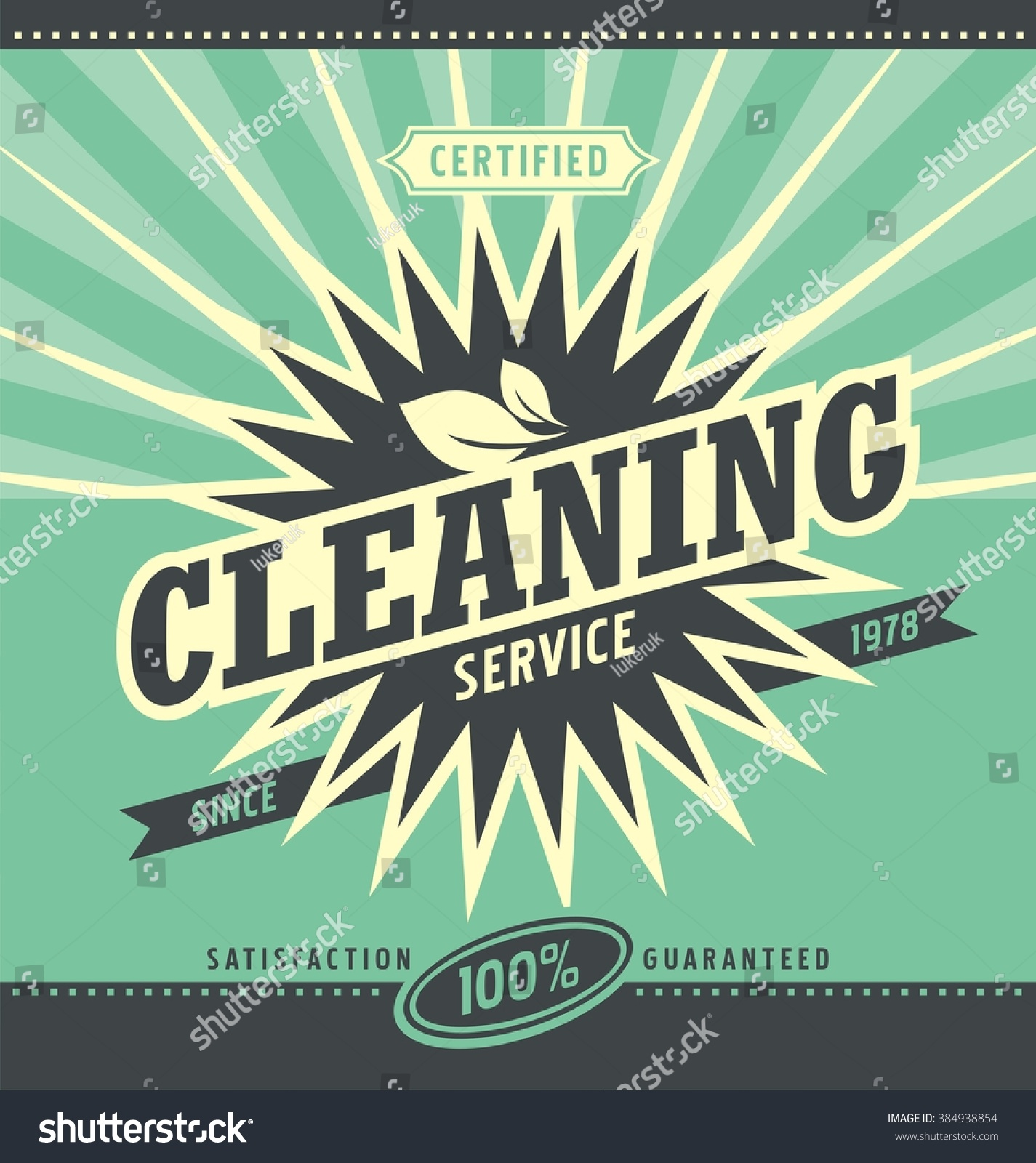 vintage ad design cleaning service retro stock vector  vintage ad design for cleaning service retro vector layout for professional residential and commercial cleaning