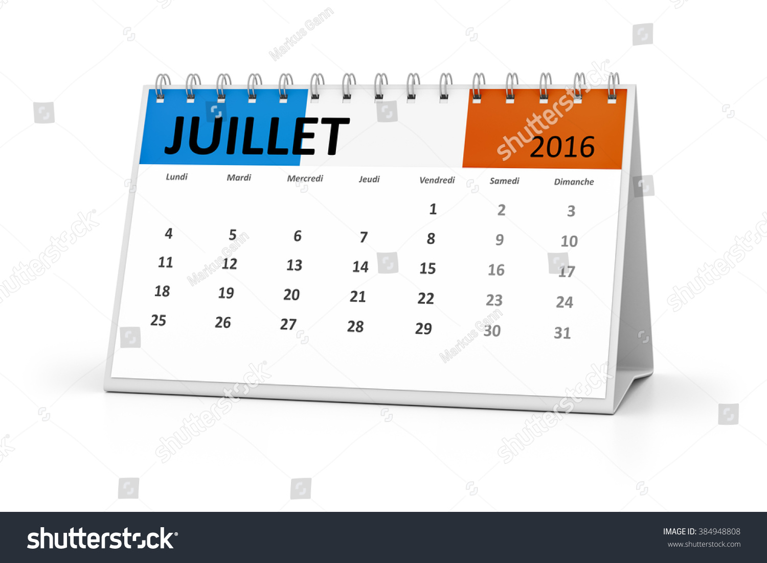 Event Calendar Illustration : French language table calendar your events stock