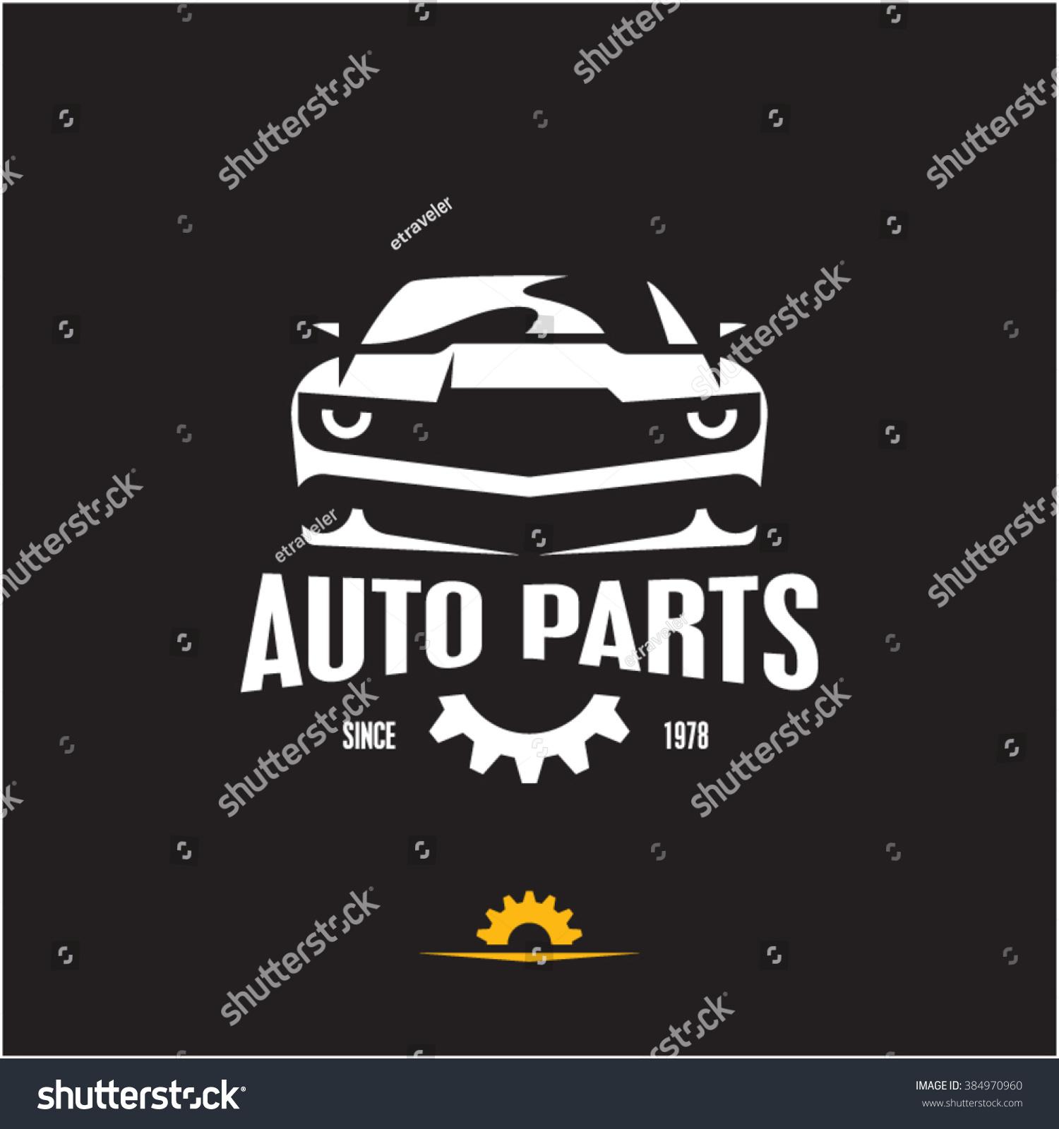 car parts icon auto parts label stock vector 384970960 shutterstock. Black Bedroom Furniture Sets. Home Design Ideas