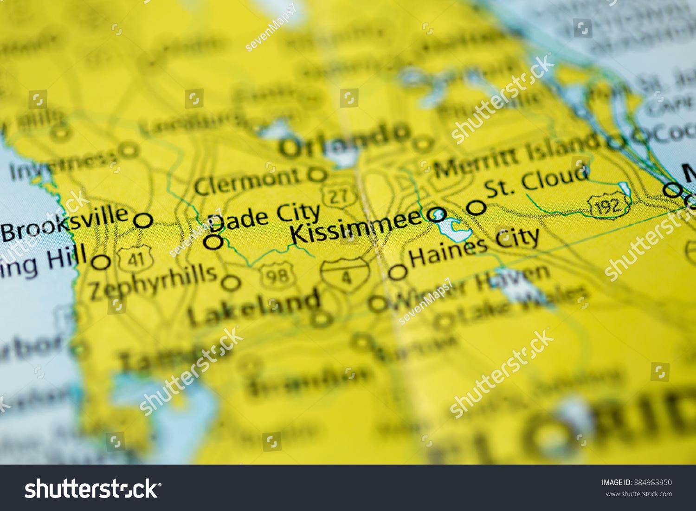 Kissimmee Florida Map.Kissimmee Florida Usa Stock Photo Edit Now 384983950 Shutterstock