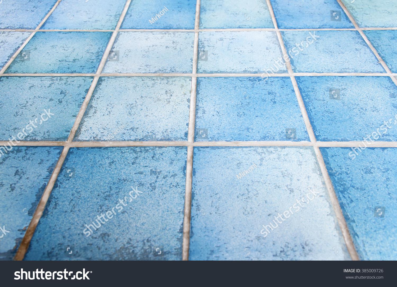 Blue Ceramic Tiles Bar Table Floor Stock Photo Edit Now 385009726