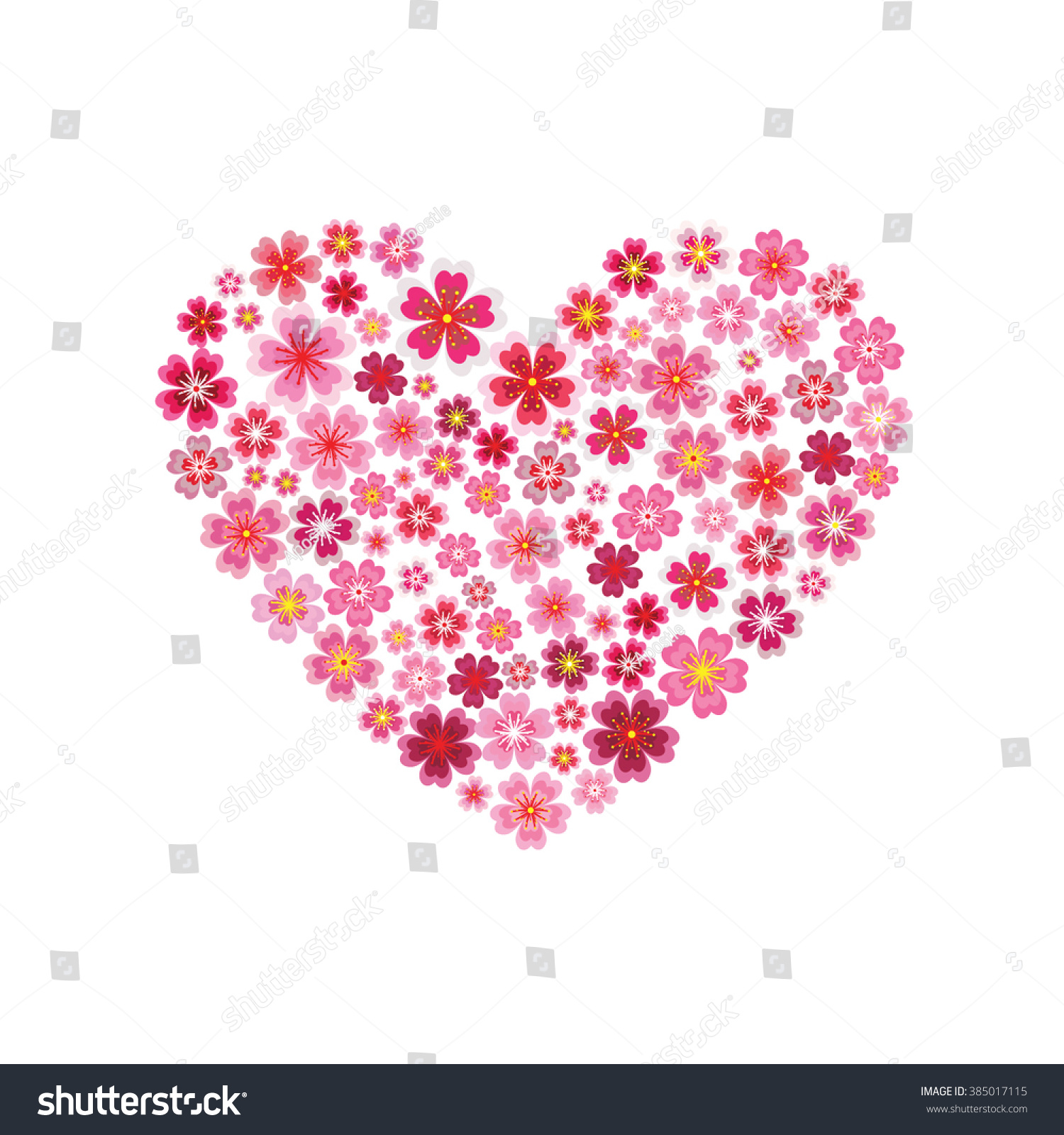 Flower heart Vector JPEG