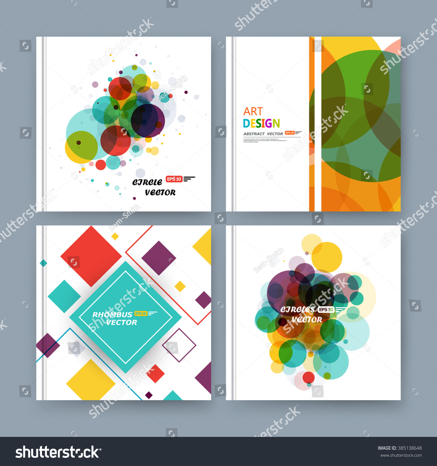 abstract position business card set info stock vector