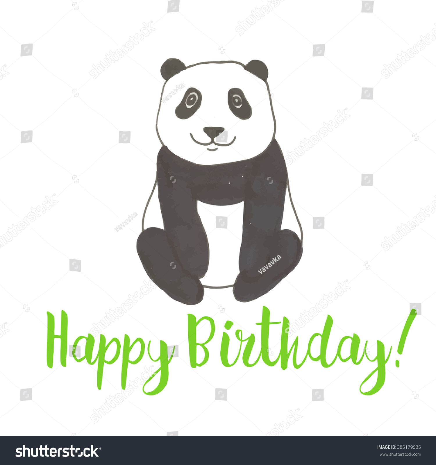 Cute watercolor vector card chinese panda stock vector 385179535 cute watercolor vector card with the chinese panda bear symbol buycottarizona Gallery