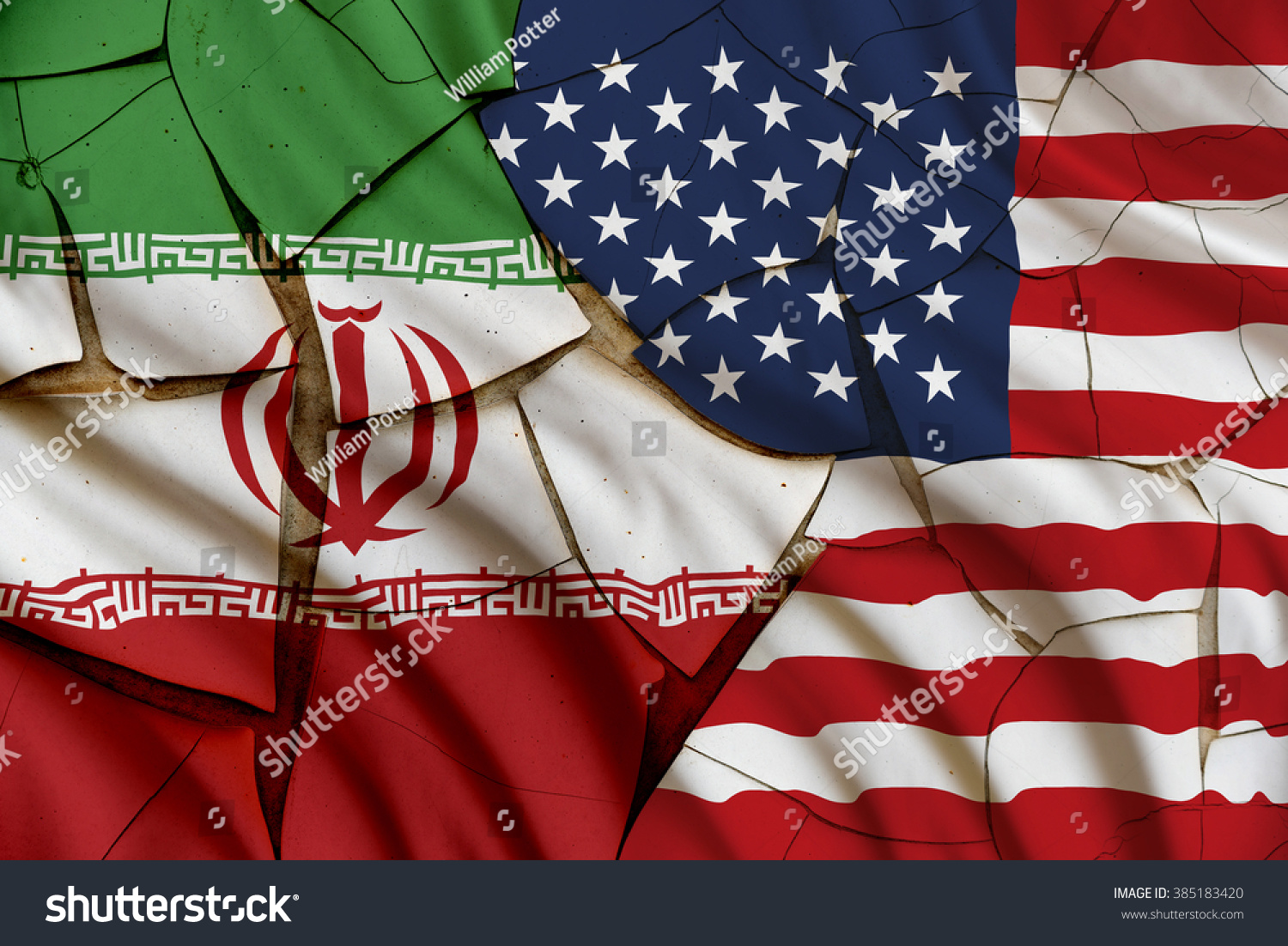 Flags iran usa symbol conflict between stock illustration 385183420 flags of iran and usa a symbol of conflict between 2 nations tehran and buycottarizona Choice Image